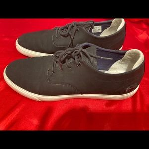 Lacoste leather trainers